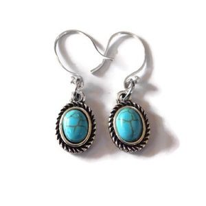 925 Turquoise Drop Earrings